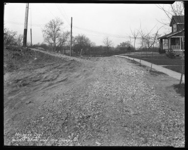 Street Improvement Photographs -- Box 45, Folder 46 (Talbert Avenue) -- negative, 1930-03-17