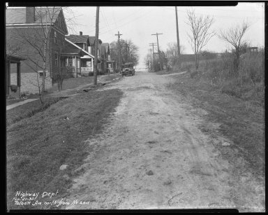 Street Improvement Photographs -- Box 45, Folder 47 (Talbott Avenue) -- negative, 1930-02-21