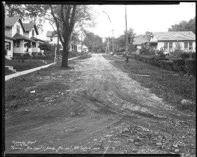 Street Improvement Photographs -- Box 45, Folder 48 (Tanner Avenue) -- negative, 1930-10-09
