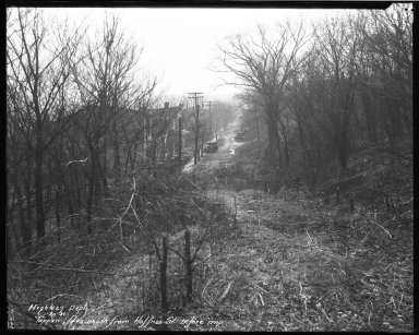 Street Improvement Photographs -- Box 45, Folder 49 (Tappan Avenue) -- negative, 1931-01-20