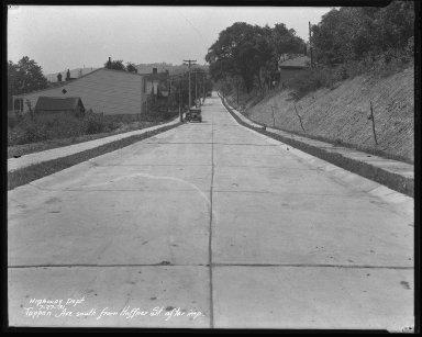 Street Improvement Photographs -- Box 45, Folder 49 (Tappan Avenue) -- negative, 1931-07-27
