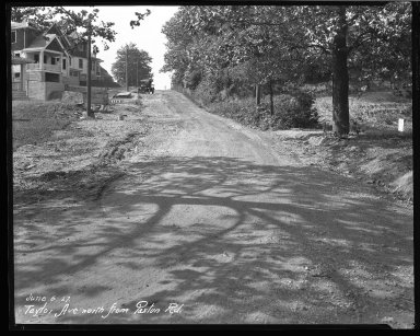 Street Improvement Photographs -- Box 45, Folder 52 (Taylor Avenue) -- negative, 1927-06-06