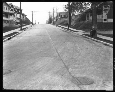 Street Improvement Photographs -- Box 45, Folder 52 (Taylor Avenue) -- negative, 1927