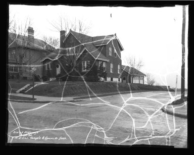 Street Improvement Photographs -- Box 45, Folder 53 (Temple Avenue) -- negative, 1936-12-30