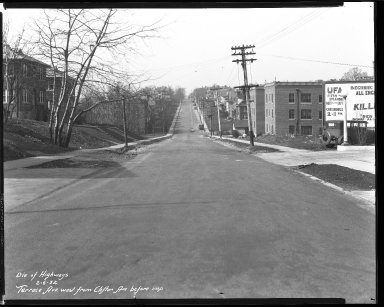 Street Improvement Photographs -- Box 46, Folder 01 (Terrace Avenue) -- negative, 1932-02-06