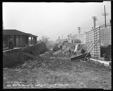 Street Improvement Photographs -- Box 46, Folder 02 (Third Street) -- negative, 1936-12-01