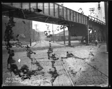 Street Improvement Photographs -- Box 46, Folder 04 (Third Street) -- negative, 1927-07-26
