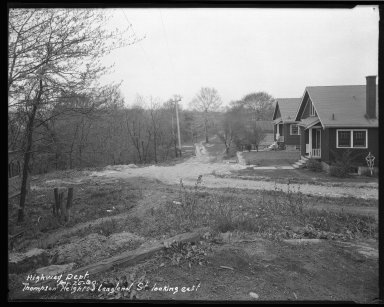 Street Improvement Photographs -- Box 46, Folder 05 (Thompson Hts.) -- negative, 1930-04-25
