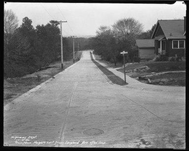 Street Improvement Photographs -- Box 46, Folder 05 (Thompson Hts.) -- negative, 1930-10-15