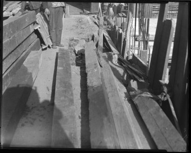 Street Improvement Photographs -- Box 46, Folder 06 (Thorp and Holcomb Alley) -- negative, 1930