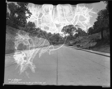Street Improvement Photographs -- Box 46, Folder 08 (Torrence Parkway) -- negative, 1938-09-24