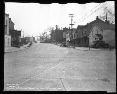 Street Improvement Photographs -- Box 46, Folder 08 (Torrence Parkway) -- negative, 1938-11-08