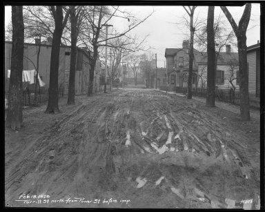 Street Improvement Photographs -- Box 46, Folder 13 (Turrill Street) -- negative, 1929-02-18