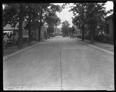 Street Improvement Photographs -- Box 46, Folder 13 (Turrill Street) -- negative, 1929-06-27