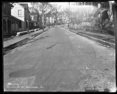 Street Improvement Photographs -- Box 46, Folder 15 (Tusculum Avenue) -- negative, 1928-03-22