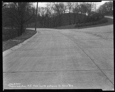 Street Improvement Photographs -- Box 46, Folder 15 (Tusculum Avenue) -- negative, 1929-01-08