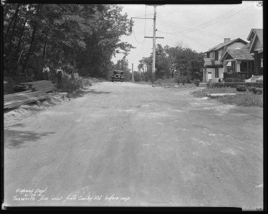 Street Improvement Photographs -- Box 46, Folder 17 (Tuxworth Avenue) -- negative, 1931-06-26