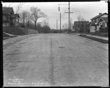 Street Improvement Photographs -- Box 46, Folder 17 (Tuxworth Avenue) -- negative, 1931-11-30
