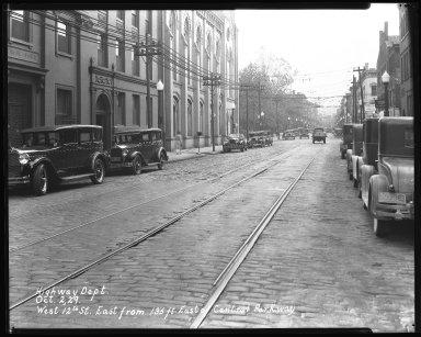 Street Improvement Photographs -- Box 46, Folder 18 (Twelfth Street (west)) -- negative, 1929-10-02