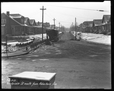 Street Improvement Photographs -- Box 46, Folder 20 (Twenty-Ninth Street) -- negative, 1927-02-11