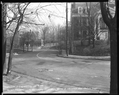Street Improvement Photographs -- Box 46, Folder 30 (Vernon Place) -- negative, 1948-12-08
