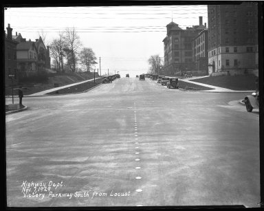 Street Improvement Photographs -- Box 46, Folder 33 (Victory Parkway) -- negative, 1929-11-07