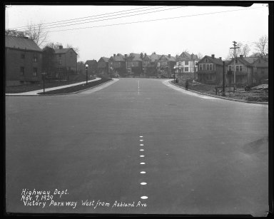 Street Improvement Photographs -- Box 46, Folder 33 (Victory Parkway) -- negative, 1929-11-07