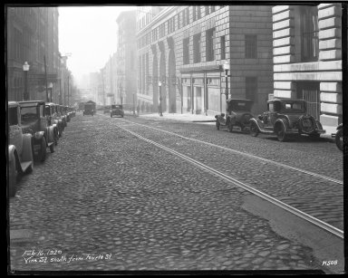 Street Improvement Photographs -- Box 46, Folder 34 (Vine Street) -- negative, 1929-02-16