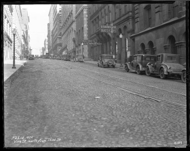 Street Improvement Photographs -- Box 46, Folder 34 (Vine Street) -- negative, 1929-02-16