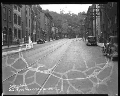 Street Improvement Photographs -- Box 46, Folder 36 (Vine Street) -- negative, 1931-08-10
