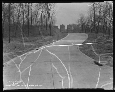 Street Improvement Photographs -- Box 46, Folder 38 (Vinedale Avenue) -- negative, 1932-04-11