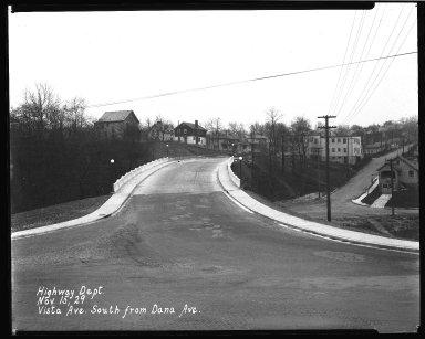 Street Improvement Photographs -- Box 46, Folder 45 (Vista Avenue) -- negative, 1929-11-15