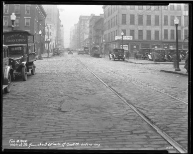 Street Improvement Photographs -- Box 46, Folder 47 (Walnut Street) -- negative, 1929-02-18