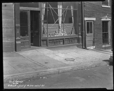 Street Improvement Photographs -- Box 46, Folder 47 (Walnut Street) -- negative, 1932-08-01