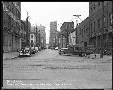 Street Improvement Photographs -- Box 46, Folder 47 (Walnut Street) -- negative, 1942-04-27