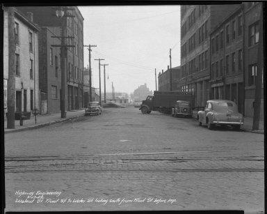 Street Improvement Photographs -- Box 46, Folder 47 (Walnut Street) -- negative, 1942-03-17