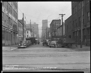 Street Improvement Photographs -- Box 46, Folder 48 (Walnut Street) -- negative, 1942-05-14