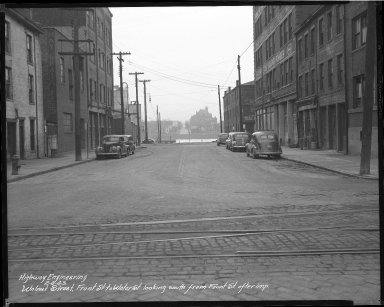 Street Improvement Photographs -- Box 46, Folder 48 (Walnut Street) -- negative, 1943-02-04