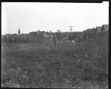 Street Improvement Photographs -- Box 46, Folder 50 (Ward Avenue) -- negative, 1928