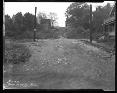 Street Improvement Photographs -- Box 46, Folder 51 (Warner Street) -- negative, 1928-05-18