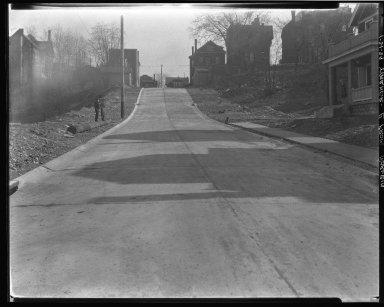 Street Improvement Photographs -- Box 46, Folder 51 (Warner Street) -- negative, 1929-01-21