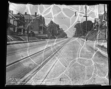 Street Improvement Photographs -- Box 46, Folder 54 (Warsaw Avenue) -- negative, 1939-10-03