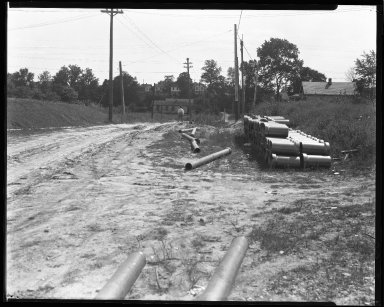 Street Improvement Photographs -- Box 47, Folder 02 (Watterson Street) -- negative, 1930