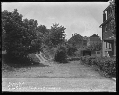 Street Improvement Photographs -- Box 47, Folder 03 (Weber Lane) -- negative, 1930-05-23