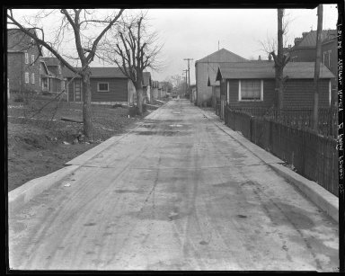 Street Improvement Photographs -- Box 47, Folder 04 (Weipul Alley) -- negative, 1929-01-21