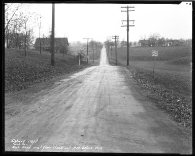 Street Improvement Photographs -- Box 47, Folder 07 (Werk Road) -- negative, 1930-11-14