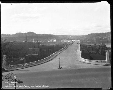 Street Improvement Photographs -- Box 47, Folder 09 (Western Hills Viaduct) -- negative, 1932-01-11