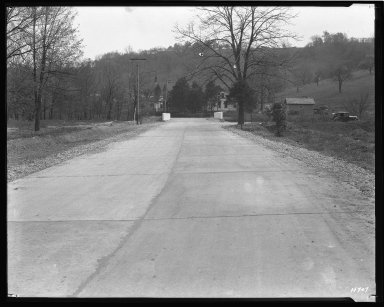 Street Improvement Photographs -- Box 47, Folder 11 (West Fork Bridge) -- negative, 1927