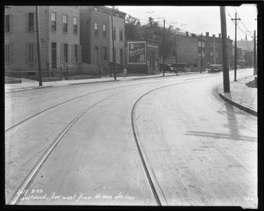 Street Improvement Photographs -- Box 47, Folder 15 (Westwood Avenue) -- negative, 1929-07-08