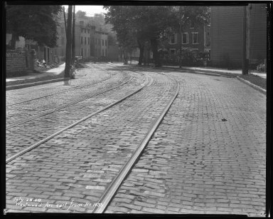 Street Improvement Photographs -- Box 47, Folder 15 (Westwood Avenue) -- negative, 1928-07-23